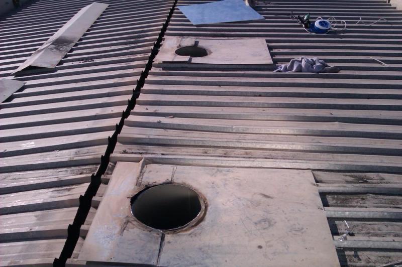 Reparación techo metálico