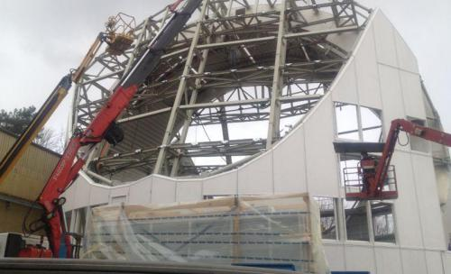 Fabricación y montaje en Basauri de la estructura secundaria del Telescopio ATST para Hawai