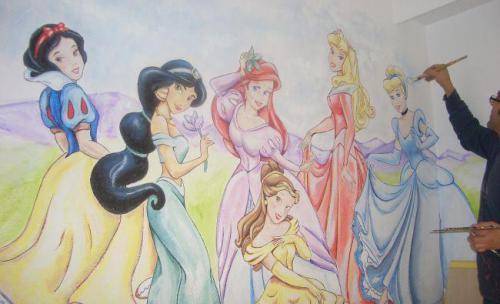 murales  princesas disney