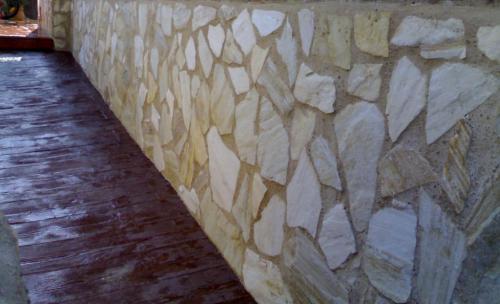 chapado de piedra natural
